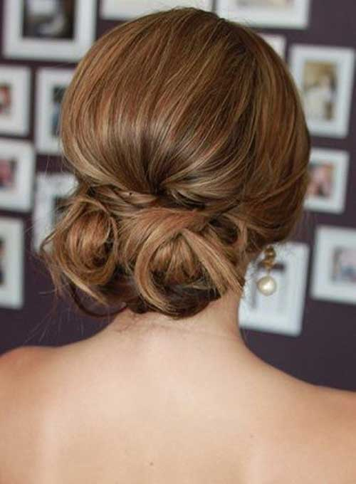 Low Hair Bun Unique Wedding Hair