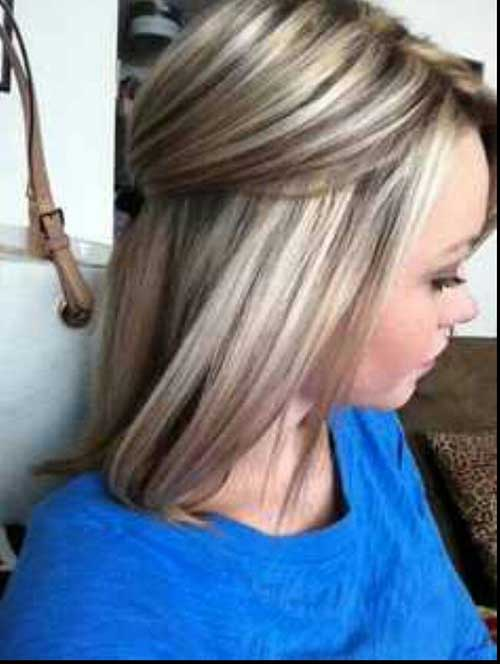 Blonde Mid Length Hair With Lowlights & 40 Blonde And Dark Brown Hair Color Ideas | Hairstyles u0026 Haircuts ... azcodes.com