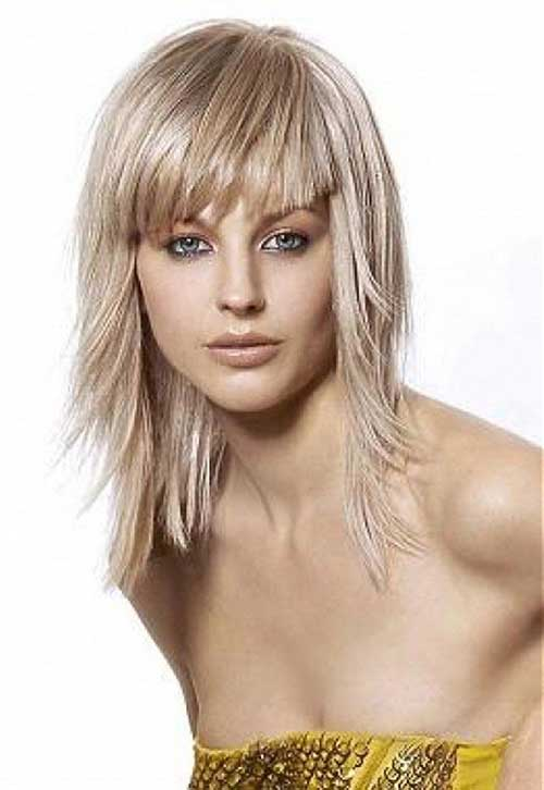 Best Medium Haircut with Bangs