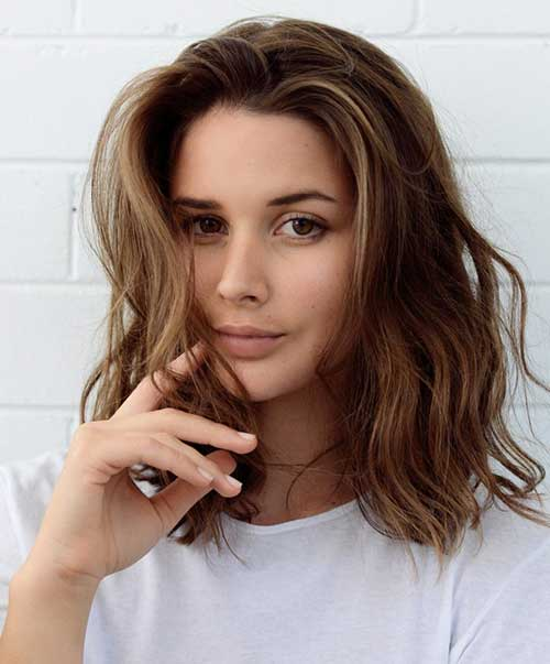 Medium Length Beach Waves Hairstyles