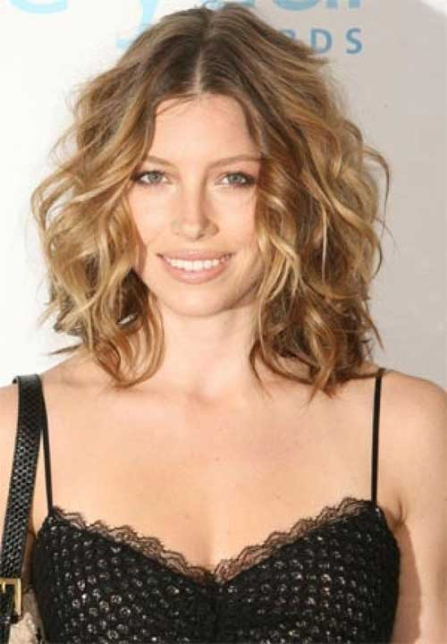 Curly Hairstyles For Short To Medium Length Hair : Thick medium length hairstyles haircuts