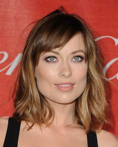 20 best medium hair cuts with bangs hairstyles haircuts 2016 medium length hairstyle with bangs and ombre color urmus Gallery