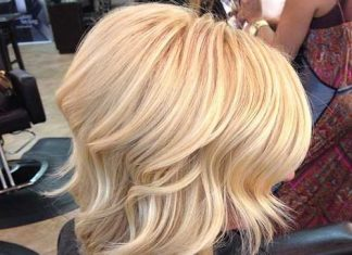Blonde Medium Length Wavy Hairstyles