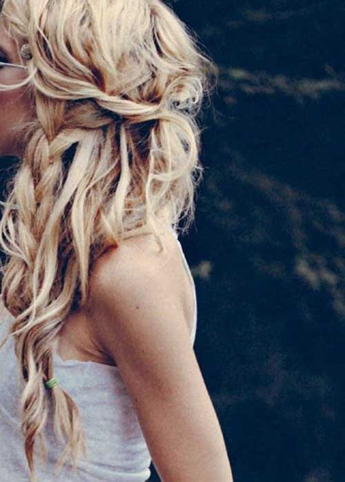 Messy Braided Hairstyles Wedding