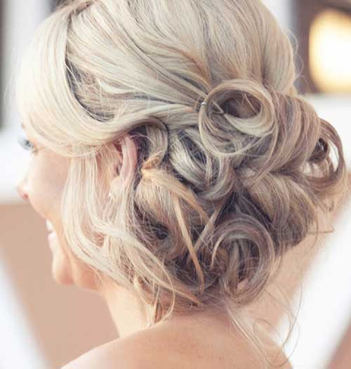 Low Messy Buns for Wedding