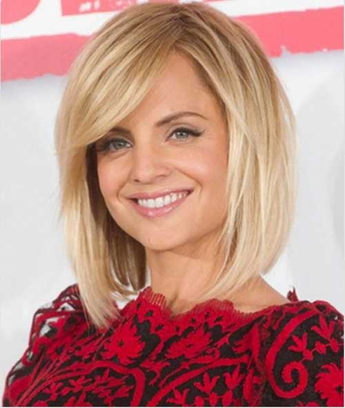 Mid Length Thick Blonde Hairstyles