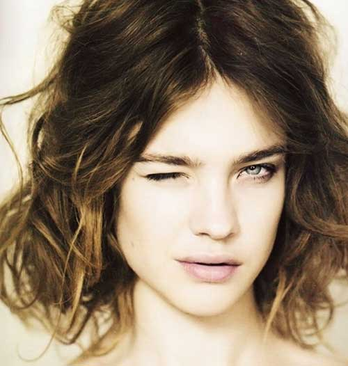 Natalia Vodianova Curly Hairstyles