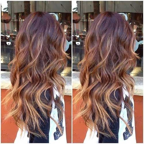 Ombre Layered Hair and Highlights