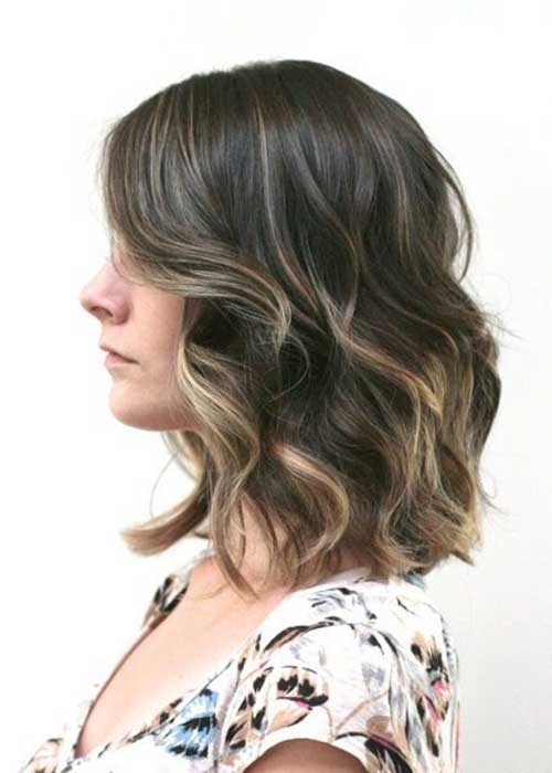 Ombre for Short Hair with Waves