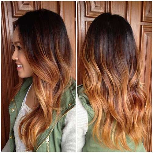 Ombre Pictures Of Long Layered Curly Hairstyles