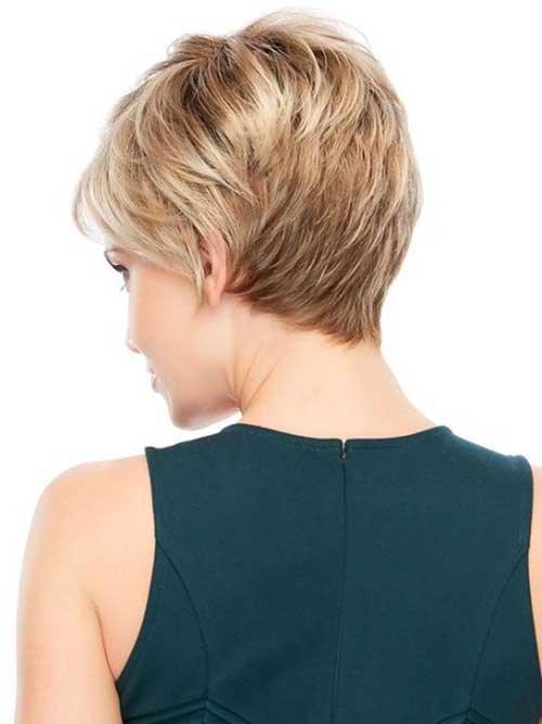 Pixie with Short Feminine Layers Back View