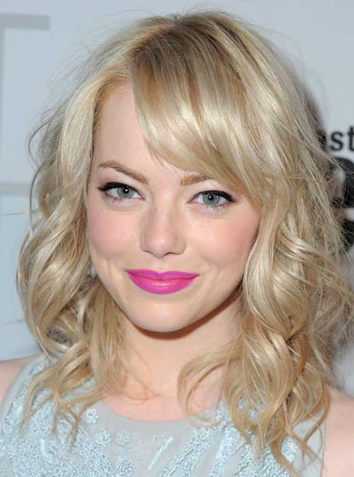 Emma Stone Platinum Blonde Hair