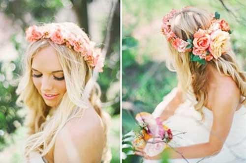 Best Prettiest Bridal Flower Crown