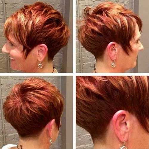 Red Dramatic Highlighted Short Pixie