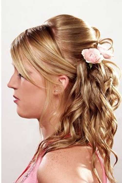 Wondrous 30 Best Half Up Curly Hairstyles Hairstyles Amp Haircuts 2016 2017 Hairstyle Inspiration Daily Dogsangcom