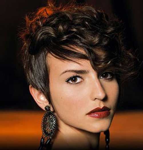 Best Short Curly Hair with Bangs