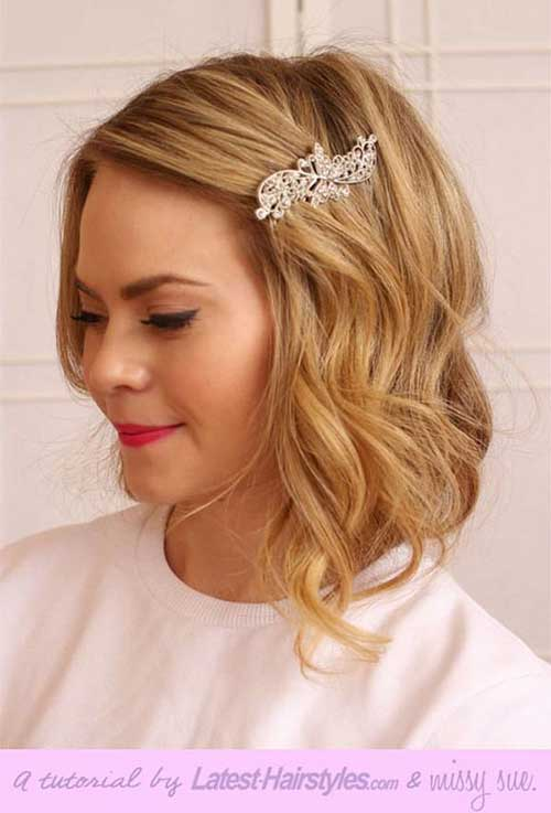 20 new wedding styles for short hair hairstyles haircuts 2016 2017 new short hair wedding junglespirit Images