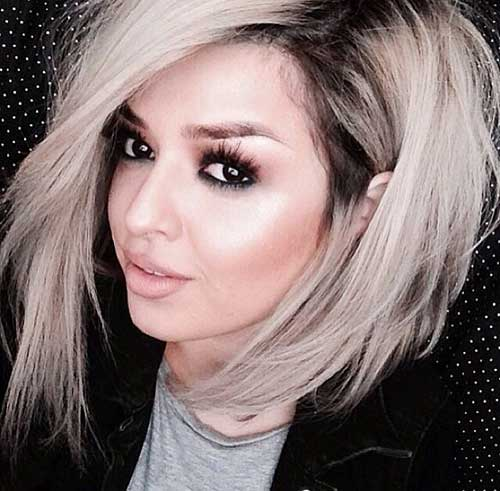 Platinum Bob Short Medium Hairstyle For Women