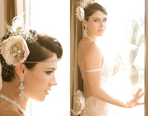 Hair Styles For Short Hair Brides: 20 New Wedding Styles For Short Hair