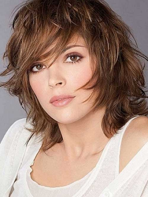 Shoulder Length Layered Bangs Haircuts
