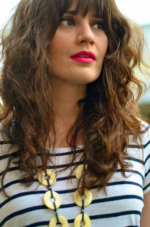 Remarkable 30 Best Curly Hair With Bangs Hairstyles Amp Haircuts 2016 2017 Hairstyles For Women Draintrainus
