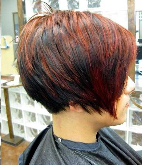 Layered Straight Long Pixie Hairstyles