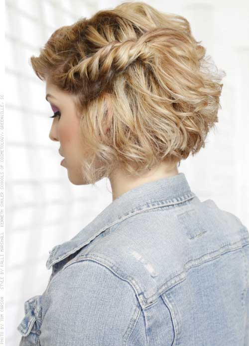 Twisted Half Up Short Hairstyles for Prom