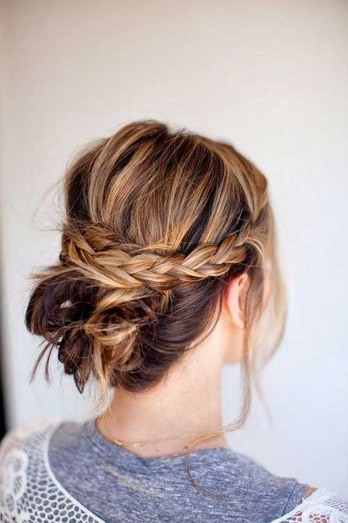 Updo Ideas Long Hair with Braid