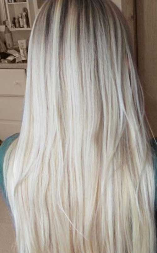 Very Cool Long Light Blonde Layered Hairdo