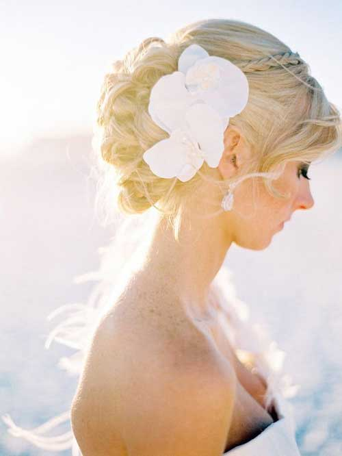 Wedding Beach Braided Bun Hairstyles 2015
