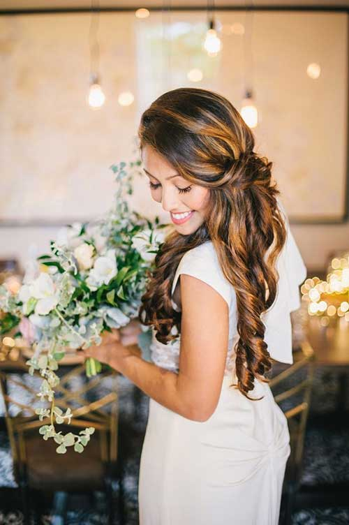Wedding Hair Ruffled Curly Ends