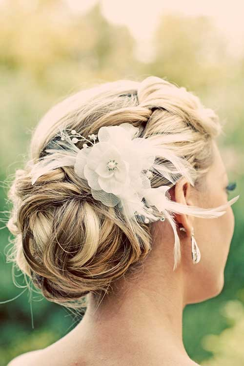 Best Wedding Hairstyle with Hair Decoration