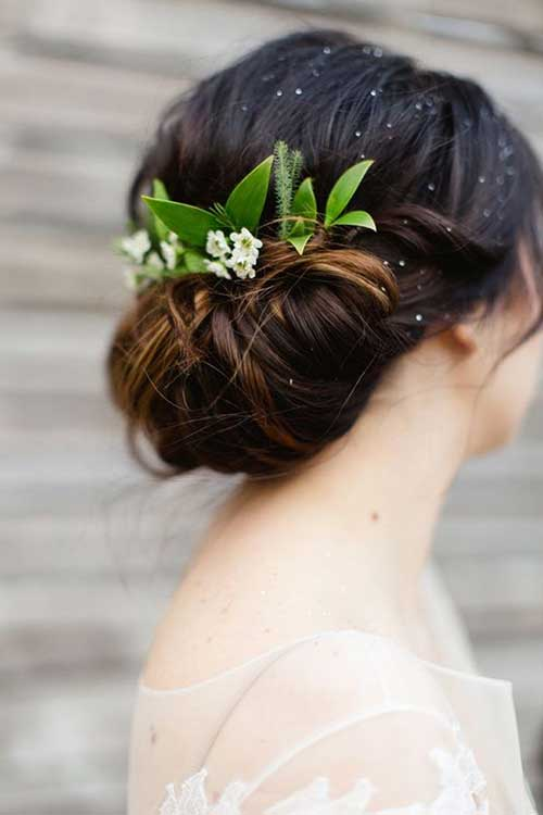 Wedding Hairstyles with Flowers Images