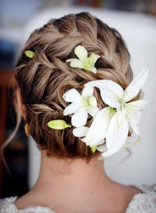 Wedding Beach Updos with Braids