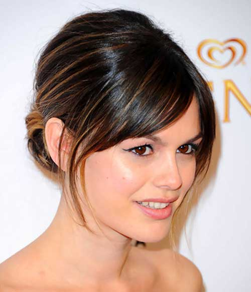 Bun Hairstyles with Bangs-13
