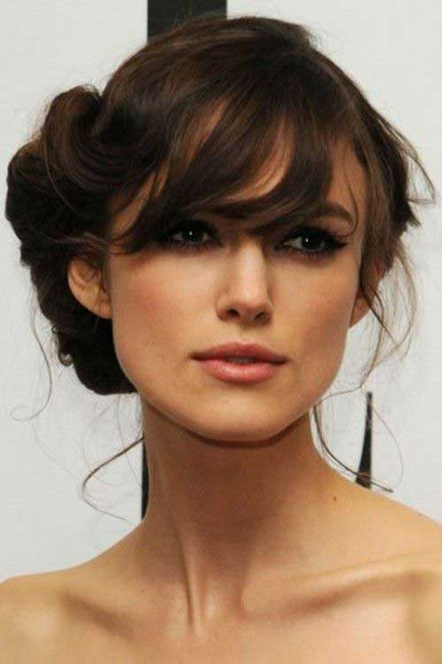 Bun Hairstyles with Bangs-15