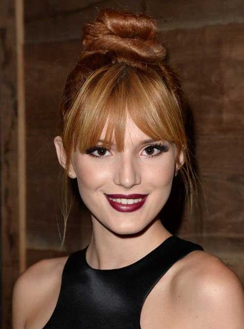 Bun Hairstyles with Bangs-18