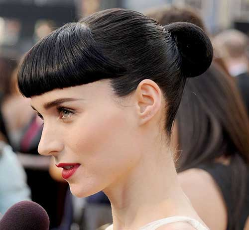 Bun Hairstyles with Bangs-20