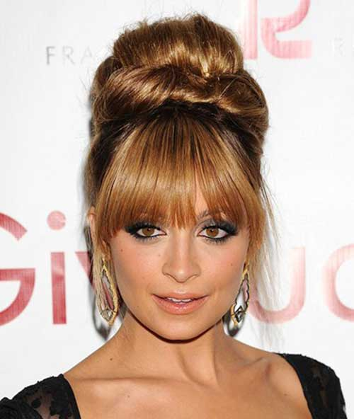 Bun Hairstyles with Bangs-22
