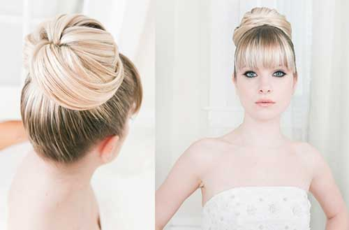 Bun Hairstyles with Bangs-23