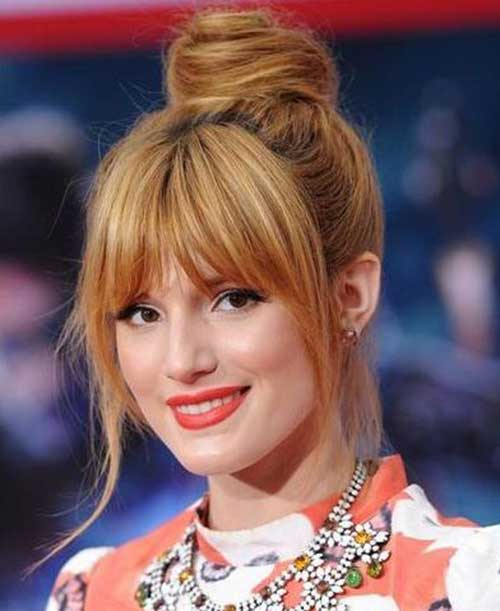 Bun Hairstyles with Bangs-9