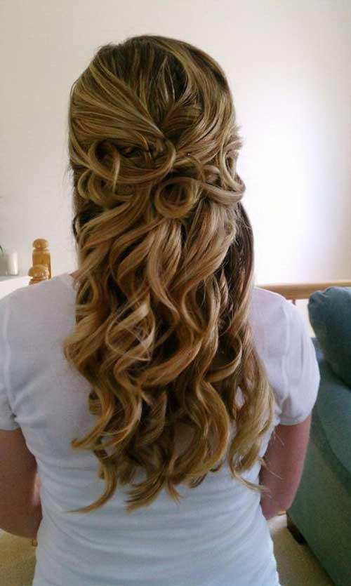 Bridal Hair Half Updo-13