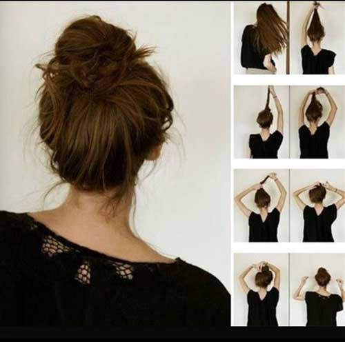 15 easy messy buns hairstyles haircuts 2016 2017 easy messy buns 14 urmus Gallery