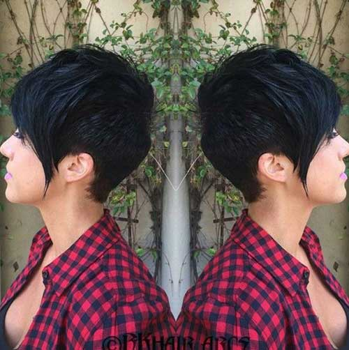 Long Pixie Haircut for Thick Hair-15