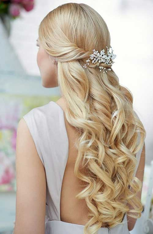 Bridal Hair Half Updo-6