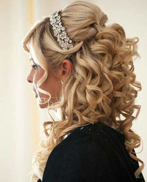 Bridal Hair Half Updo-7
