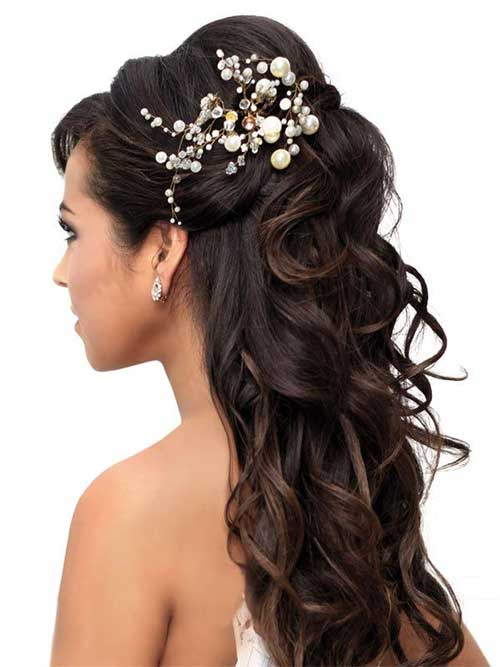 Bridal Hair Half Updo-8