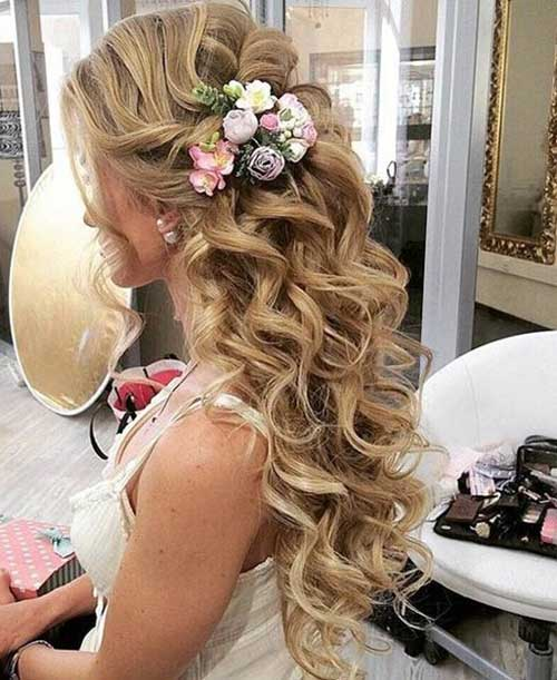 15 bridal hair half up hairstyles haircuts 2016 2017 bridal hair half up junglespirit Image collections
