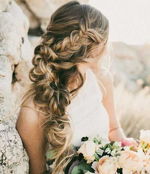 25 wedding hair styles for long hair hairstyles haircuts 2016 2017. Black Bedroom Furniture Sets. Home Design Ideas