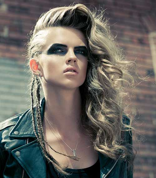 Punk Hairstyles Long Hair  Hairstyles amp; Haircuts 2016  2017